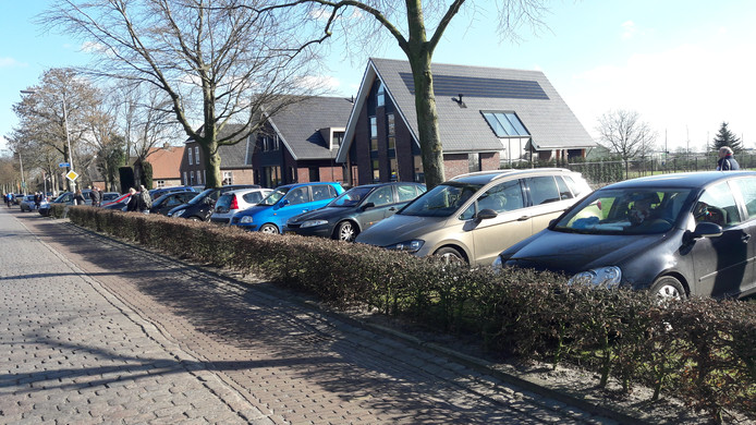 Een kleine traditie in Haorendam, naar de optocht kijken vanuit je auto; drive in-carnaval dus eigenlijk.