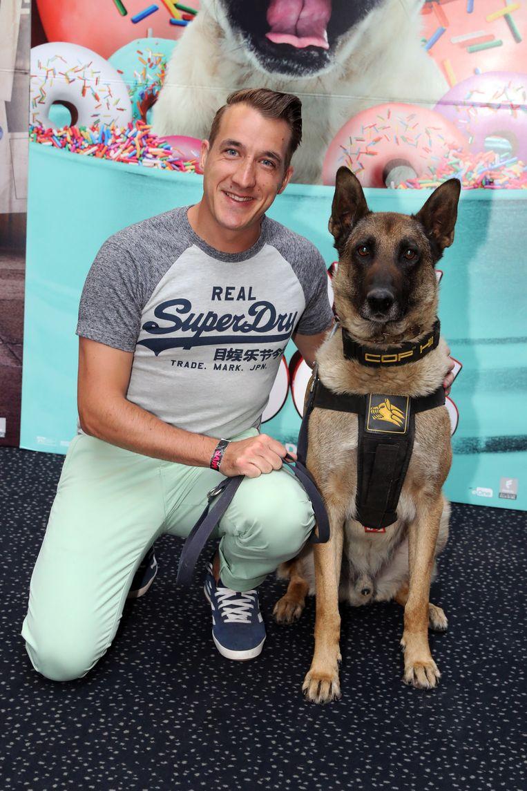 Andy peelman en zijn hond Barry