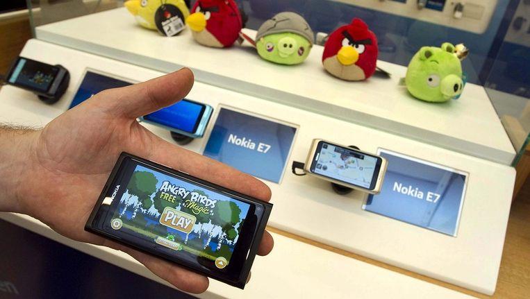 Tweakers downloadde onder andere gratis de volledige versie van het populaire Angry Birds Beeld ANP
