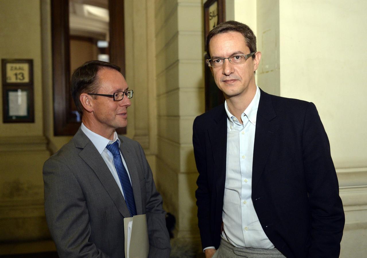 Chris Meganck et Eric Roux (porte-parole) de la Scientologie belge et européenne