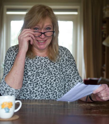 Riet Rensen kreeg 1.500 euro van de ING, terwijl dat niet haar geld is