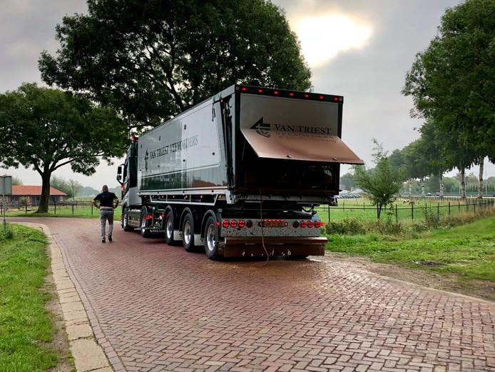 Bij Beers is de vrachtwagen gestopt.