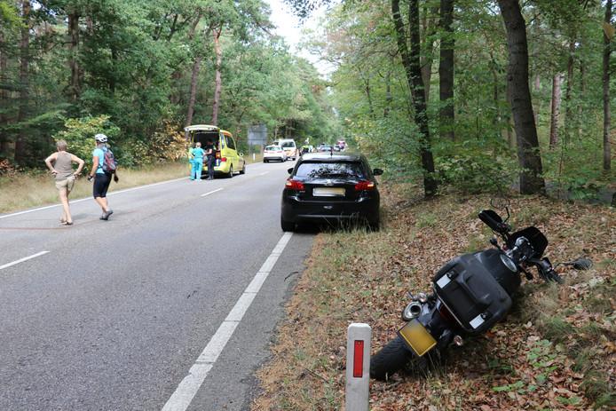 De motorrijder botste in Zeist tegen een ree.