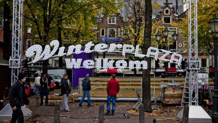 Foto-expositie van Dokters van de Wereld op het Leidseplein. Deze maakte ook onderdeel uit van de Museumnacht. Foto Maarten Brante Beeld