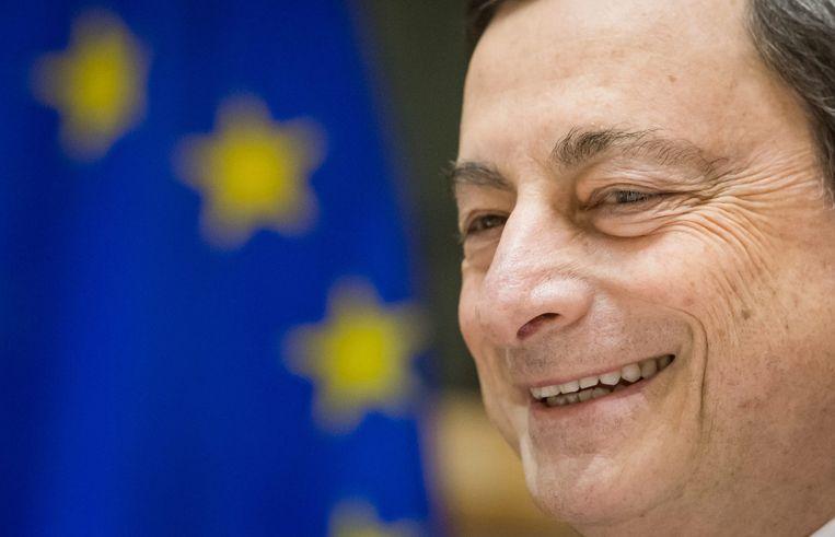 Mario Draghi, voorzitter van de Europese Centrale Bank. Beeld epa