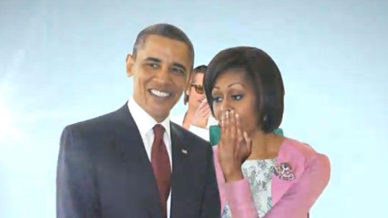 Still uit de video. Beeld