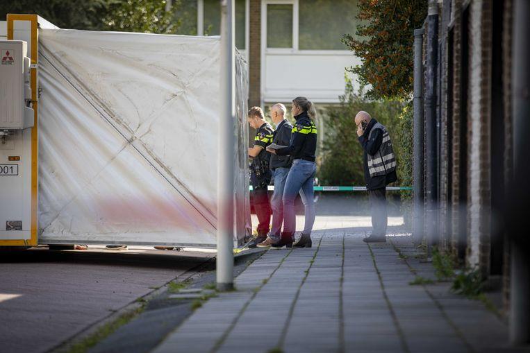 De Imstenrade in Buitenveldert, waar advocaat Derk Wiersum woensdagochtend werd doodgeschoten. Beeld ANP