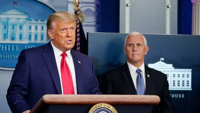 Dow Jones breekt record en chagrijnige Trump komt uit zijn kot voor ultrakorte persconferentie