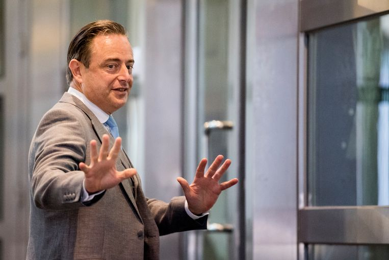 Bart De Wever gisteren in het Vlaamse parlement.