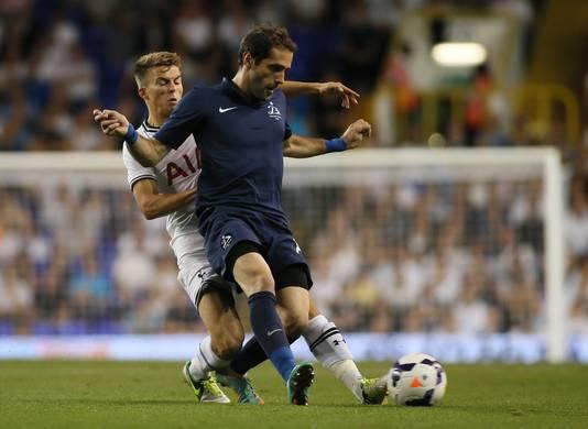 Tom Carrroll, donderdag tijdens het Europa League-duel van Spurs met Dinamo Tbilisi.