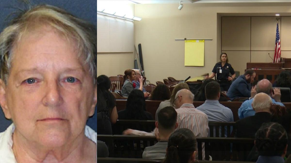 Genene Jones verscheen voor de rechtbank van het Amerikaanse San Antonio.