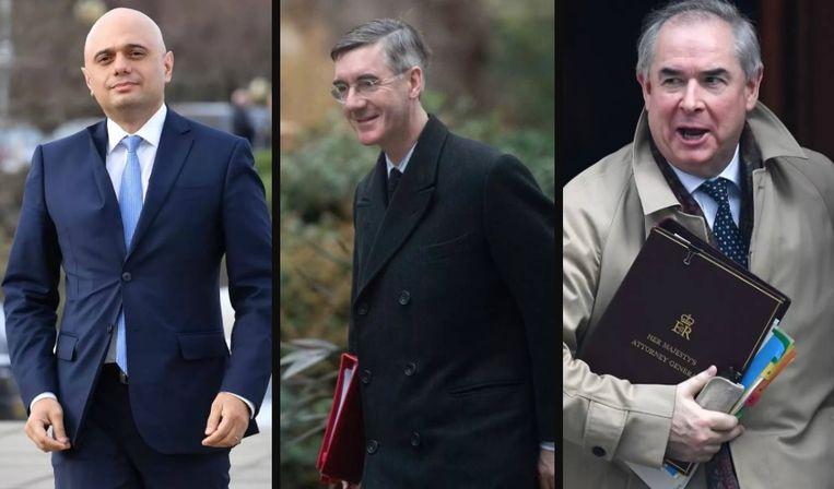Sajid Javid (minister van Financiën), Jacob Rees-Mogg (de vertegenwoordiger van de Britse regering in het Lagerhuis) en Geoffrey Cox (minister van Justitie) mogen nattigheid beginnen te voelen.
