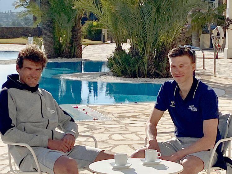"""Van Avermaet en Naesen blikken vooruit op het komende wielerseizoen: """"Ik denk dat we elkaar alles gunnen"""""""