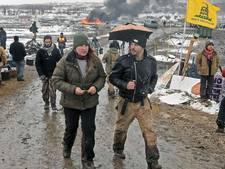 Demonstranten oliepijpleiding Noord-Dakota druipen af