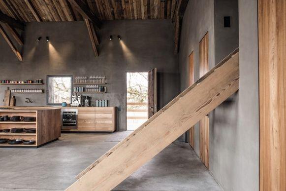 Getransformeerde schuur in Chiemgau (Duitsland) door Stephanie Thaterhorts.