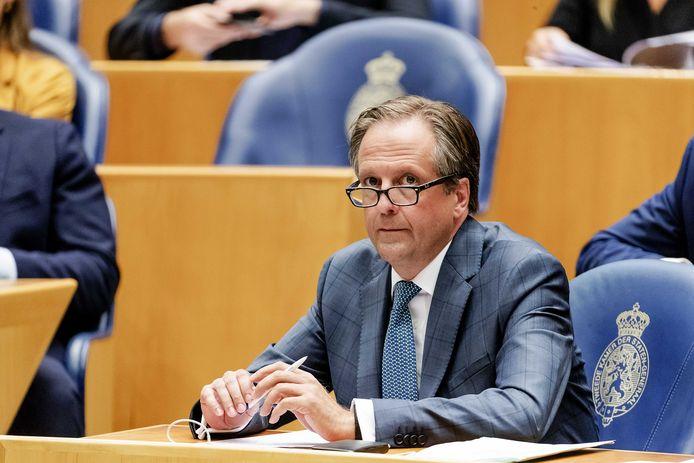 Alexander Pechtold (D66) tijdens een debat in de Tweede Kamer.