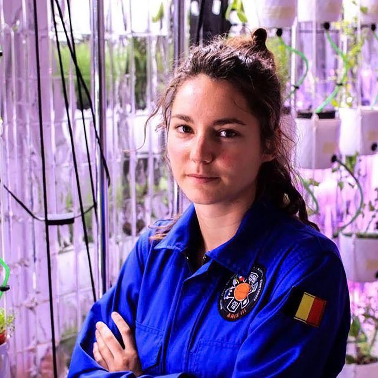 Angelique tijdens haar Mars simulatie missie dit jaar in Polen.