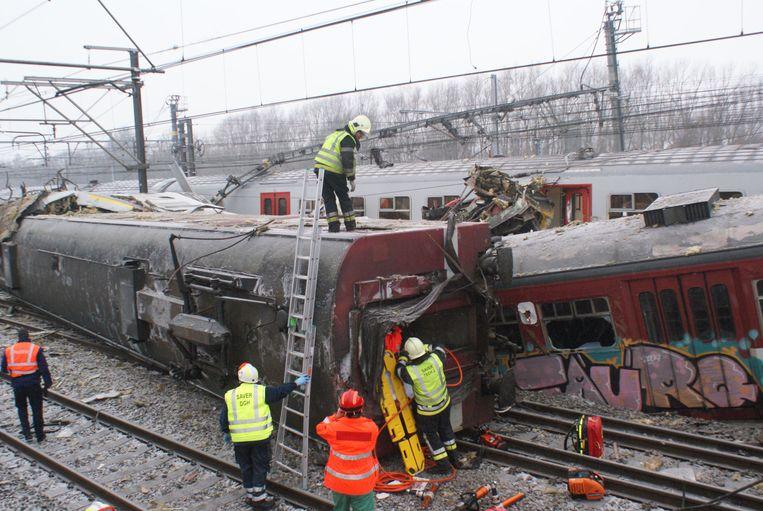 Archiefbeeld treinramp Buizingen