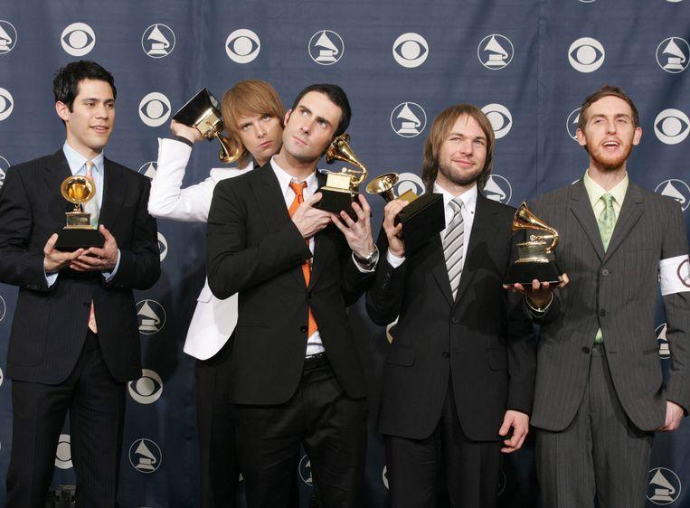 Maroon 5. Van links naar rechts: Ryan Dusick, James Valentine, Adam Levine, Mickey Madden et Jesse Carmichael.
