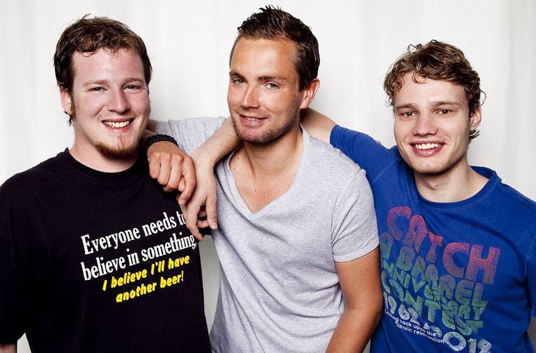 De drie deelnemers aan Casanova Bootcamp Beeld SBS