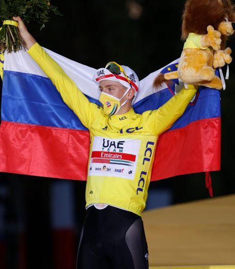 Tourwinnaar Pogacar houdt zich in: 'Door corona niet gepast om het te vieren'