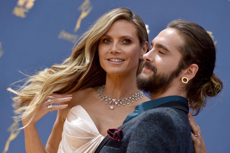 Heidi Klum en Tom Kaulitz vorig jaar op de Emmy Awards