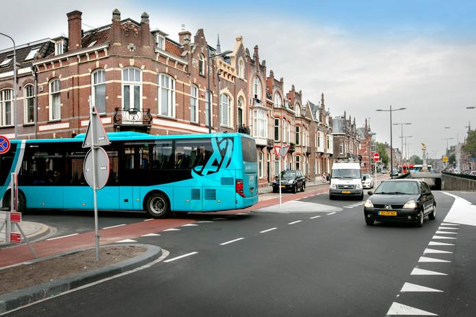 29-08-2018 Den BoschHet heropende Julianaplein geeft lastige verkeerssituaties.foto: Sandra Peerenboom