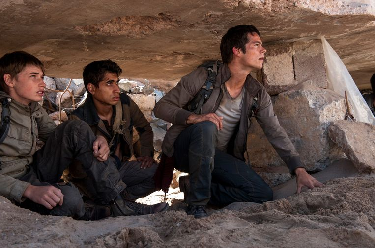 Dylan (rechts) in 'The Maze Runner'.