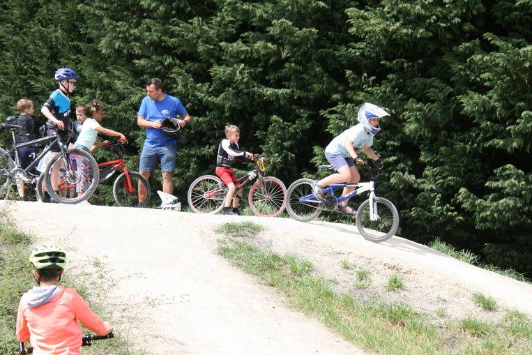 Het BMX-parcours viel meteen in de smaak.
