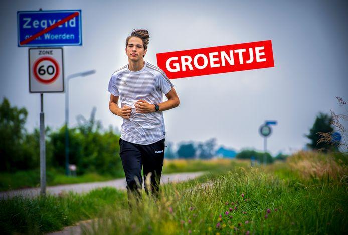 Jeroen Frasa houdt van hardlopen in de polder bij zijn huis in Zegveld.