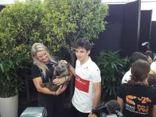 Koalaknuffelen met Charles Leclerc en Marcus Ericsson