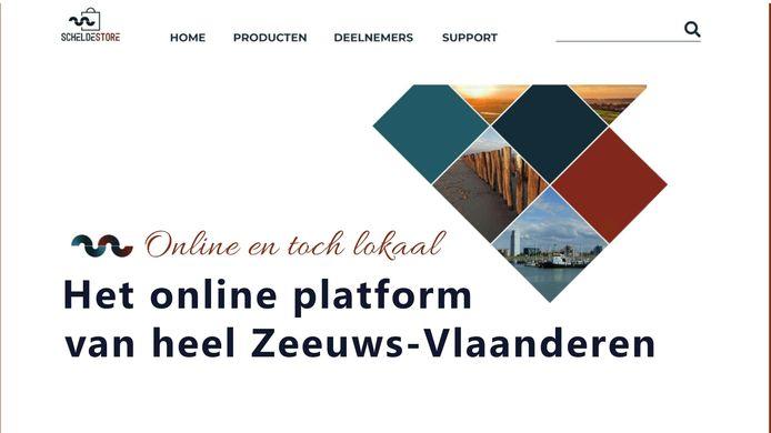 Internetpagina Scheldestore, het online platform voor ondernemers in Zeeuws-Vlaanderen.