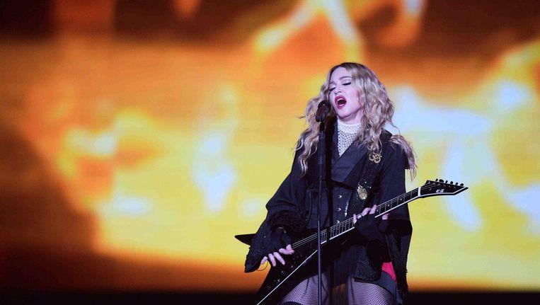 Madonna tijdens haar tour in Berlijn. Beeld epa