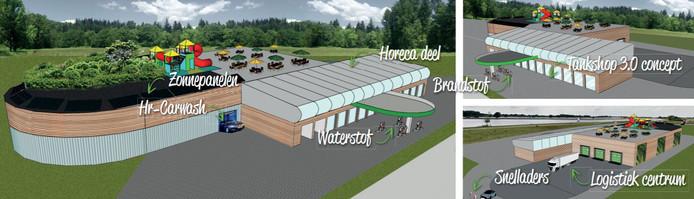 Illustratie van het DCO IJsselstation, zoals de initiatiefnemer dat voor ogen heeft.