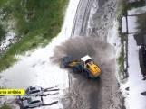 Modderstroom en sneeuw maken abrupt einde aan 19de etappe Tour de France