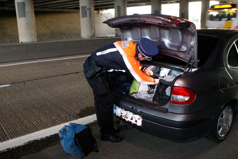 Politie liet de wagen takelen