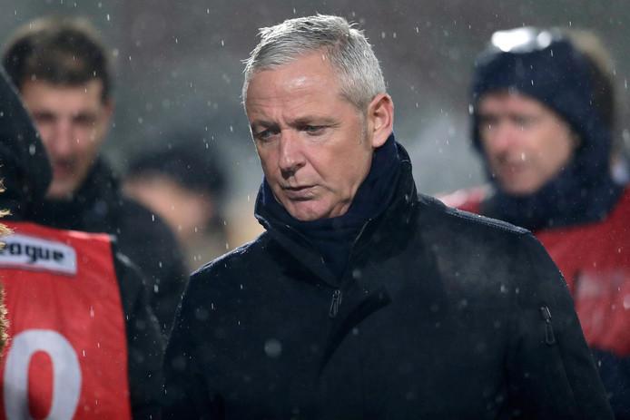 NEC-trainer Jack de Gier in het Frans Heesenstadion.