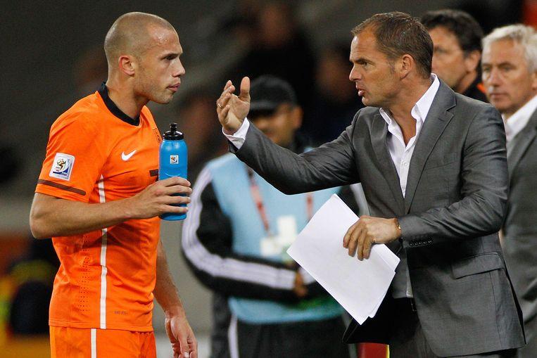 Frank de Boer was tijdens het WK van 2010 assistent van Bert van Marwijk. Beeld BSR/SOCCRATES