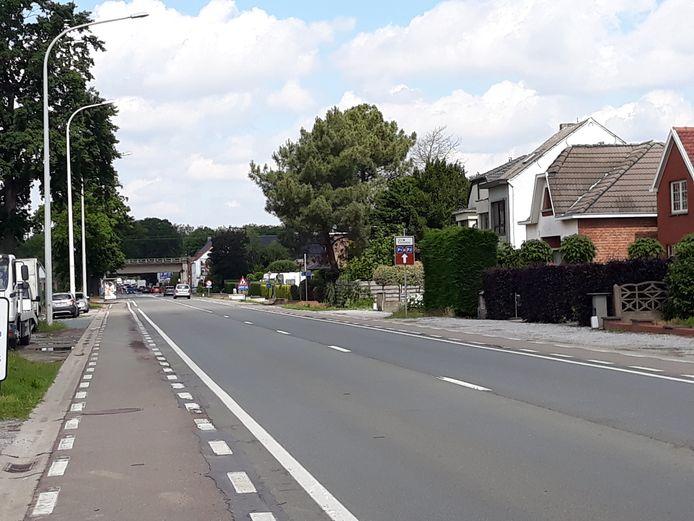 De Leuvensesteenweg in Muizen voor de start van de werkzaamheden.