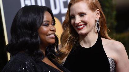 Zwarte jurken, activisten en een indrukwekkende Oprah Winfrey: Golden Globes in teken van #metoo-affaire