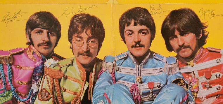 Albumcover Sgt Pepper Hearts Club Band. Beeld ap