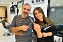Osama Samaan en zijn vrouw Nadia Maher, beide kapper. Nu hebben zij een eigen zaak in Gouda.