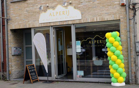 Alperij: een winkel met enkel Oostenrijkse producten in de rekken.