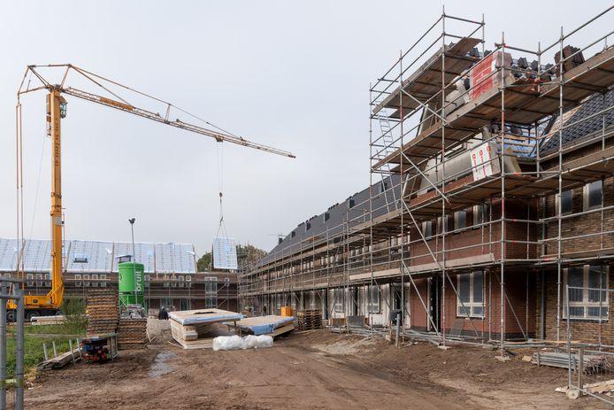 In een van de nieuwbouwwijken in Barneveld werd zand met styreen aangetroffen.