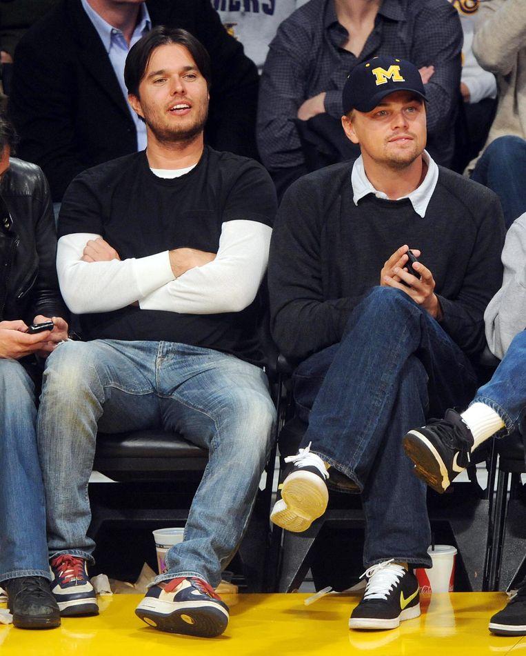 Leonardo DiCaprio en zijn halfbroer Adam Farrar