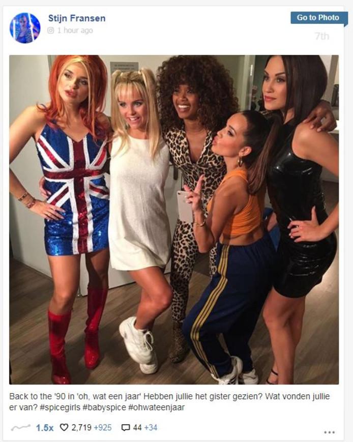 2a6f7d89651 Actrice Stijn Fransen begaat blundertje met delen Spice Girls make ...