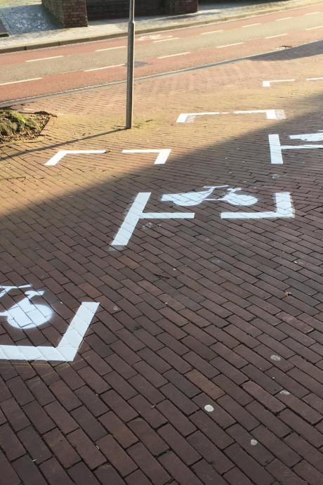 Eerste P-plaatsen voor bakfietsen op Hertogplein als proefproject: 'Ik wil niet dat klanten een bon krijgen'