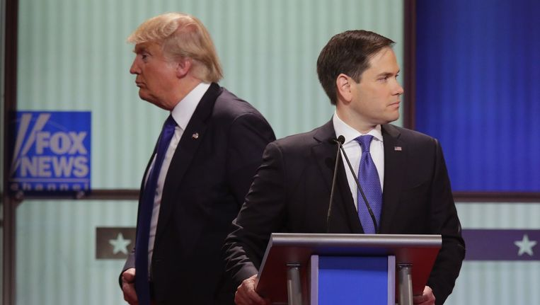Donald Trump en Marco Rubio Beeld null