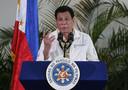 De Filipijnse president Rodrigo Duterte