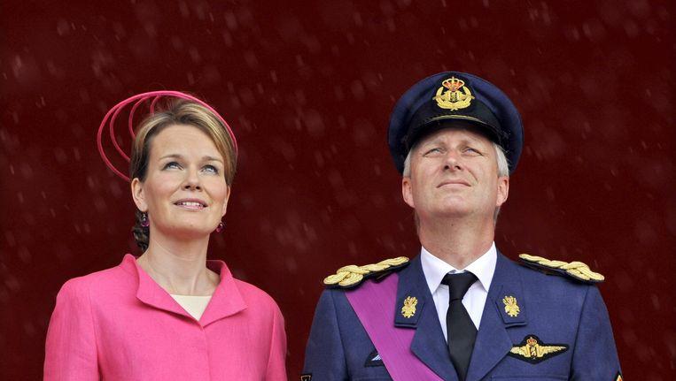 Prins Filip en zijn vrouw Mathilde op een foto uit 2009. Beeld AFP